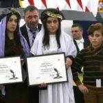 Nadia Murad was awarded Sukharov award with Lamiya Aji Bashar in 2016