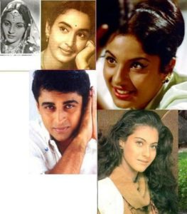 Nutan's mother Shobhna Samarth, sister Tanuja, son Mohnish Behl, and niece Kajol
