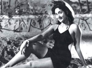 Nutan wearing a swimsuit