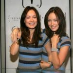 Olivia Wilde with her sister