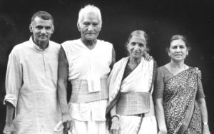 Prakash Amte with his parents and wife