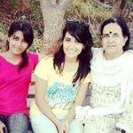 Prakriti Nautiyal with her mother and sister Pragya Nautiyal