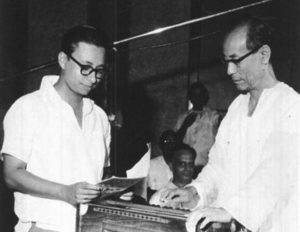 R. D. Burman with his Father