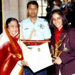 Saina Nehwal received Arjuna Award