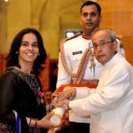 Saina Nehwal received Padma Bhushan Award