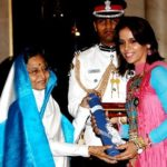 Saina Nehwal received Padma Shri Award