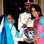 Saina Nehwal received Padma Shri Award