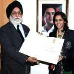 Saina Nehwal received Rajiv Gandhi Khel Ratna Award