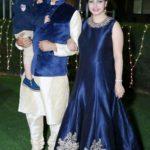Shweta Jha with her husband Ajay Jha and son Aarav