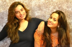Shweta Pandit with her sister