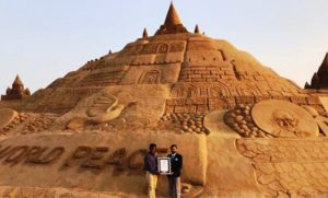 Sudarsan Pattnaik created world's tallest sand castle in 2017