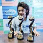 Sumedh Mudgalkar with his Awards