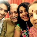 Sunny Hinduja with his parents and wife Shinjini Raval