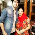 Sushant Marya with his mother