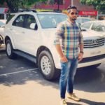 Teji Grewal with his car