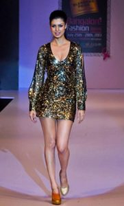 Tina Desai during ramp walk