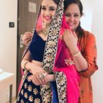 Yuvika Chaudhary with her Mother