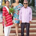 Aaslesha Thakuri with her parents