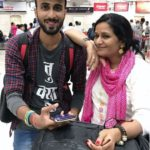 Abhinav Anand with his mother