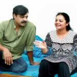Achyuth Kumar with his wife 'Nandini Patwardhan'