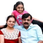 Achyuth Kumar with his wife Nandini Patwardhan and daughter