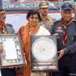 Aprajita Sarangi receiving Shakti Samman