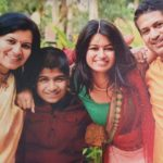 Aprajita Sarangi with her family