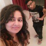 Arun Kushwaha with his sister