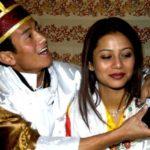 Baichung Bhutia with his wife