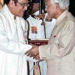 Bhupen Hazarika receiving Padma Bhushan