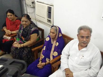Bhupesh Baghel with his family