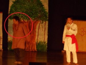 Biswapati Sarkar playing in Bengali play