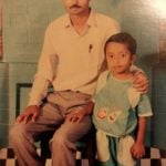 Biswapati Sarkar with his father- Childhood Picture