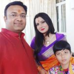 Chitra Tripathi With Her Husband and Son Aum