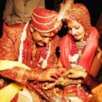 Chitra Tripathi and Atul Agarwal's marriage photo