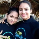 Deblina Chatterjee with her sister Trisha Debarati Chatterjee