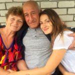 Dina Umarova with her parents