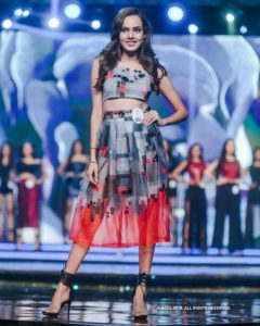 Himanshi Parashar participating in a beauty pageant