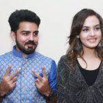 Himanshi Parashar with her brother