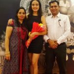Himanshi Parashar with her parents