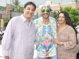 Jugjeet Singh Bhavnani with his wife and his son Ranveer