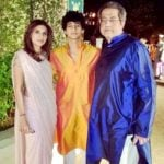 Karan Jaising with his parents
