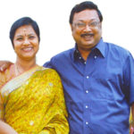 M. K. Alagiri with his wife