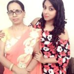Madhusree Sharma with her mother