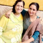 Maleeka R Ghai with her mother