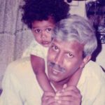 Manjiri Pupala (Childhood) with her father Vijay Pupala