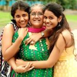 Manjiri Pupala with her mother and sister Aditi Surana