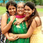 Manjiri Pupala with her mother and sister Aditi Surana