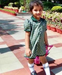 Myra Vishwakarma while going to School