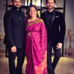 Nitin Mukesh's Wife and Sons